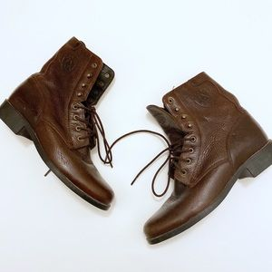 Ariat Heritage Lace Up Combat Riding Boots Size 7